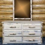 Cascade 6 Drawer Dresser w/ Log Mirror (Clear)