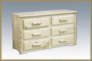 Cascade 6 Drawer Dresser (Clear)