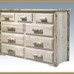 Cascade 9 Drawer Dresser (Clear)