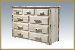 Cascade 9 Drawer Dresser (Clear)