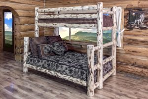 Cascade Twin/Full Bunk Bed (Clear)