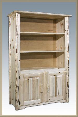 Cascade Bookcase w/Storag (Clear)