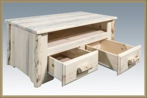 Cascade Two Drawer Coffee Table (Clear)