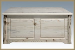 Cascade Two Drawer Coffee Table BACK VIEW (Clear)