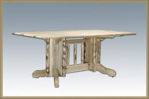Cascade Double Pedestal Base Dining Table (Clear)