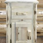 Cascade Nightstand w/ Drawer & Door (Clear)