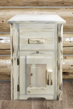 Cascade Nightstand w/ Drawer & Door (Clear)