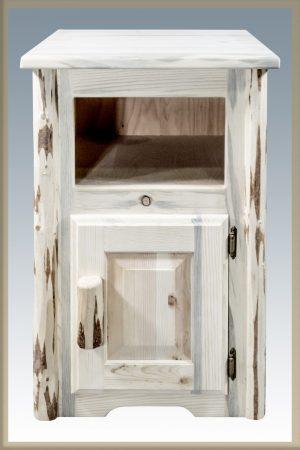 Cascade Nightstand w/ No Drawer & Door (Clear)