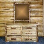 Glacier 6 Drawer Dresser w/ Log Mirror