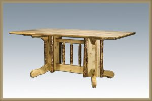 Glacier Double Pedestal Base Dining Table