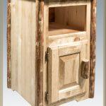 Glacier Nightstand w/ No Drawer & Door
