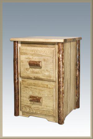 Glacier 2 Drawer File Cabinet