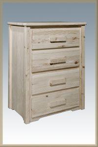Homestead 4 Drawer Dresser (Clear)