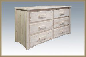 Homestead 6 Drawer Dresser (Clear)