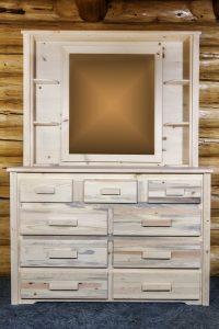 Homestead 9 Drawer Dresser w/ Deluxe Mirror (Clear)