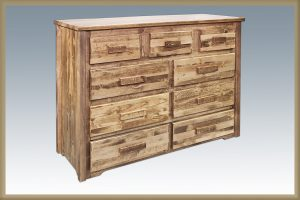 Homestead 9 Drawer Dresser (Stained)