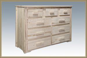 Homestead 9 Drawer Dresser (Clear)