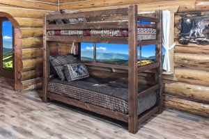 Homestead Twin/Twin Bunk Bed (Stained)