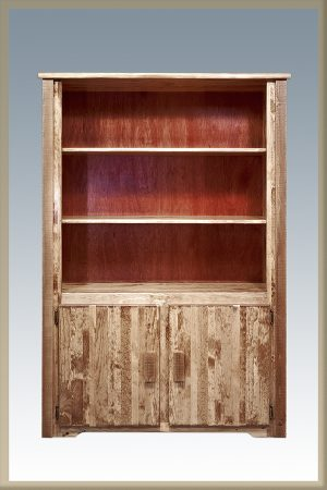 Homestead Bookcase w/Storage (Stained)