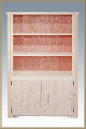 Homestead Bookcase w/Storage (Clear)