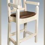 Homestead Captain's Barstool w/ Saddle Upholstery (Clear)