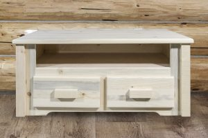 Homestead Two Drawer Coffee Table (Clear)