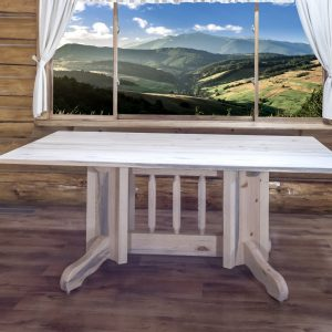 Homestead Double Pedestal Base Dining Table (Clear)