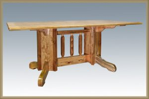 Homestead Double Pedestal Base Dining Table (Stained)