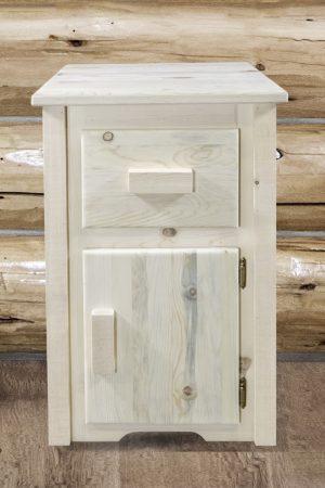 Homestead Nightstand w/ Drawer & Door (Clear)
