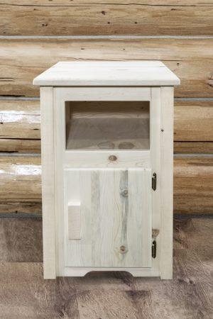Homestead Nightstand w/ No Drawer & Door (Clear)