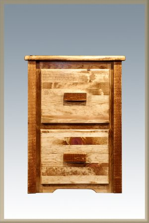 Homestead 2 Drawer File Cabinet (Stained)