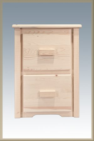 Homestead 2 Drawer File Cabinet (Clear)