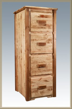 Homestead 4 Drawer File Cabinet (Stained)
