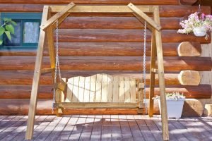 Homestead Lawn Swing Exterior Finish (Stained)