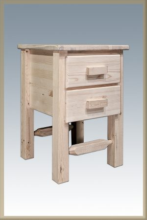 Homestead 2 Drawer Nightstand (Clear)