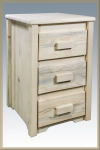 Homestead 3 Drawer Nightstand (Clear)