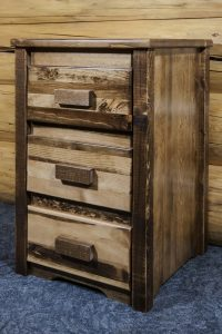 Homestead 3 Drawer Nightstand (Stained)