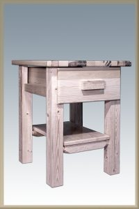 Homestead 1 Drawer Nightstand (Clear)