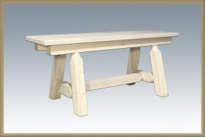 Homestead Plank Style Bench (Clear)