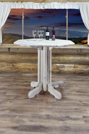 Homestead Pub Table - Octagonal (Clear)