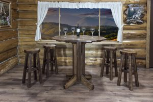 Homestead Pub Table - Octagonal (Stained)