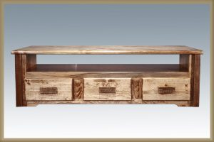 Homestead Sitting Chest 3 Drawer (Stained)