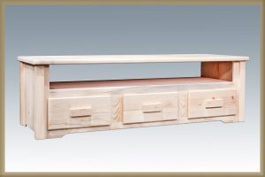 Homestead Sitting Chest 3 Drawer (Clear)
