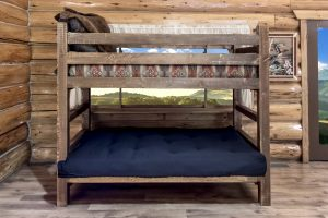Homestead Twin/Full Futon Bunk Bed (Stained)