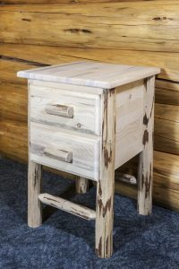 Cascade 2 Drawer Nightstand (Clear)