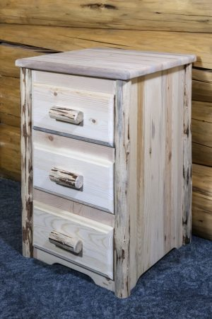 Cascade 3 Drawer Nightstand (Clear)