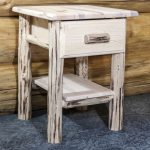 Cascade 1 Drawer Nightstand (Clear)