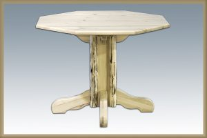 Cascade Single Pedestal- Octagonal (Clear)