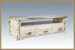 Cascade Sitting Chest 3 Drawer (Clear)