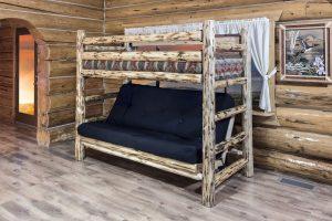Cascade Twin/Full Futon Bunk Bed (Clear)